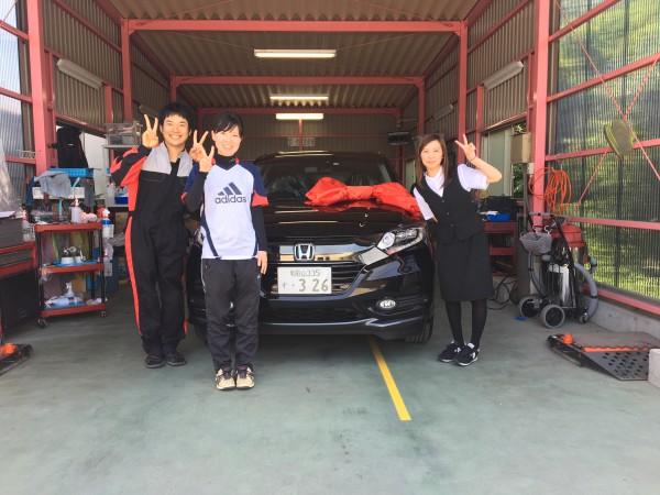 新車ヴェゼル ご購入ありがとうございました(*^^)v